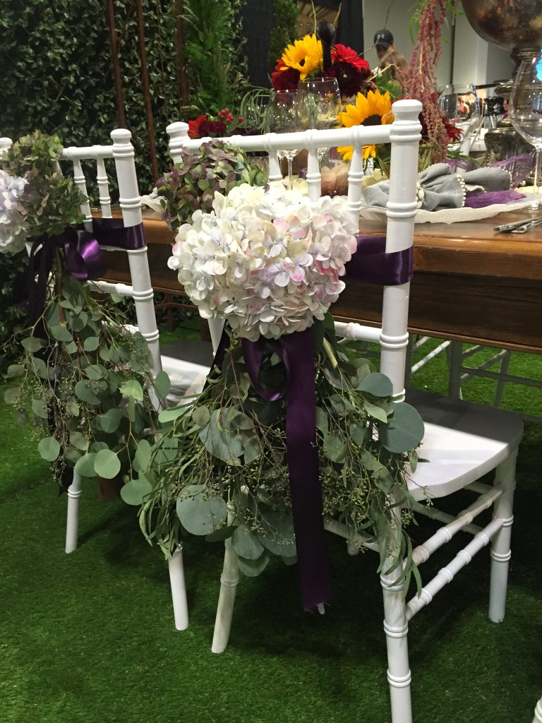 yes they are real! Our fabulous designer went over the top with the chair decor