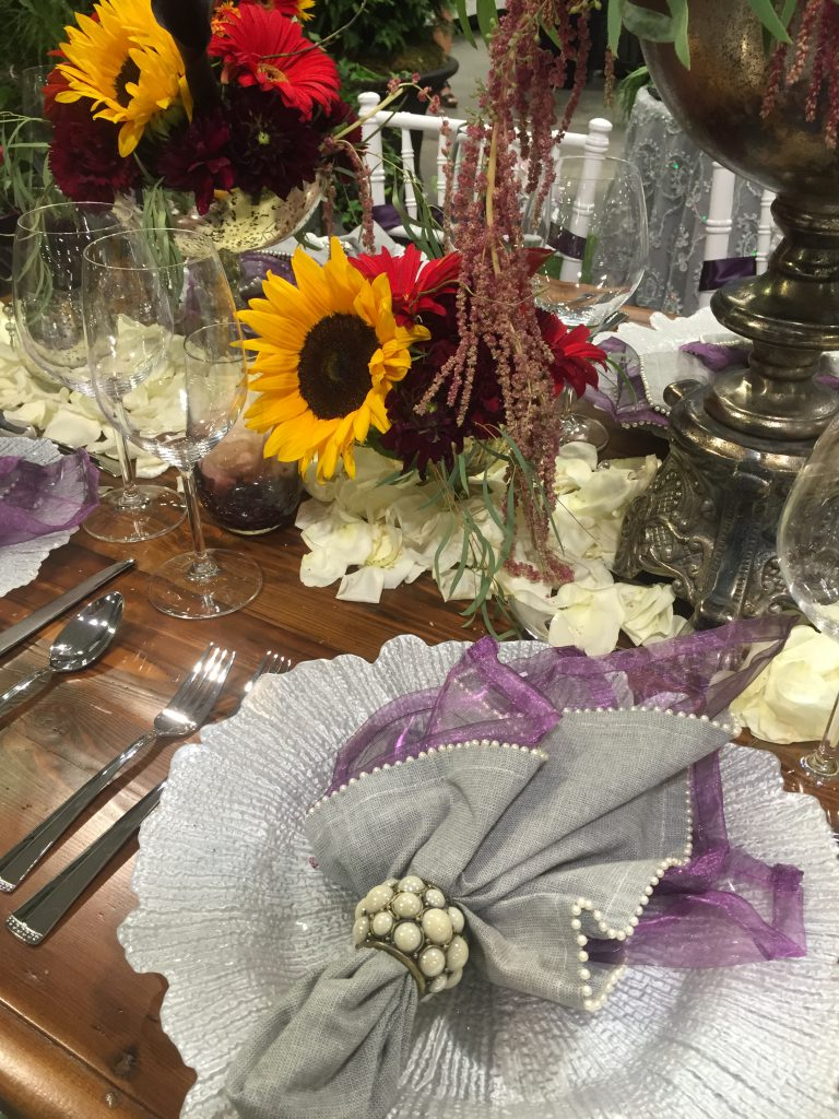 Tablescape with sunflowers